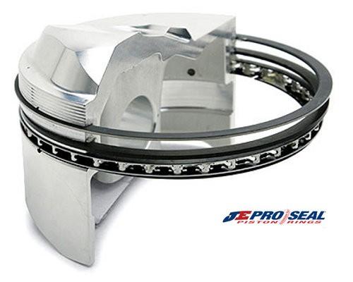 """JE Pro Seal Rings - """"HNS"""" Hardened Nitrous 4.610 bore back-cut .043x1/16x3/16"""