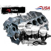 Block & Lunati Rotating Assem Turbo-Balanced-Ford 438, Dart SHP Block, Lunati Crank, H-Beam Rod 10-1