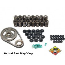 Cam Install Kit, Ford FE 352-428 Flat Tappet .650 max lift, 4140 steel retainer, lock, Roller timing